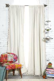 Nursery Curtain Curtain Grey Curtains For Nursery Blackout Pompom Curtain