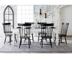 white dining table black chairs dining kitchen magnolia home