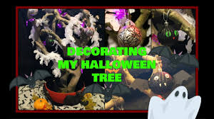 decorating my halloween tree ghost tinsel bat lights and