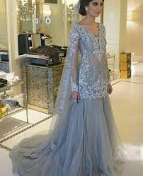 engagement lengha engagement formal dress elan inspired silver