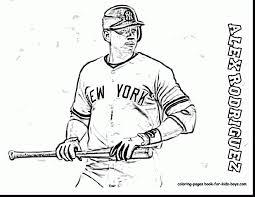 awesome baseball player coloring pages printable with baseball