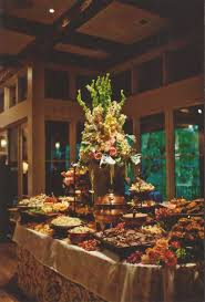 wedding at home fooddisplay buffet tables and party platters