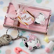 keychain favors pink baby carriage keychain favors pink baby shower favors cheap