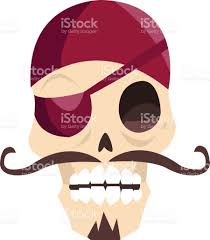 free halloween images on white background jolly roger funny cartoon skull isolated on white background