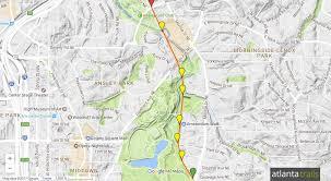 Atlanta Neighborhood Map by Atlanta Beltline Trail Eastside Extension At Piedmont Park