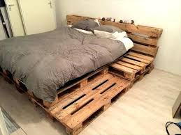 bed frame with lights bed made from pallets pallet bed frame with lights bed pallets