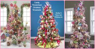 suspended tree made of ornaments