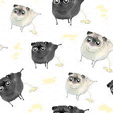 Pug Home Decor Pilates Pugs Black Pug And Fawn Pug Wallpaper