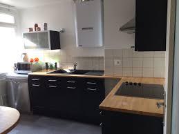 cuisine blanc laqué plan travail bois plan de travail cuisine blanc laqué idées décoration intérieure