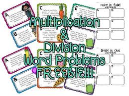 7 best multiplication division word problems images on pinterest