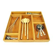 Lipper International Bamboo Kitchen Drawer Dividers by Bamboo Drawer Organizers Storables