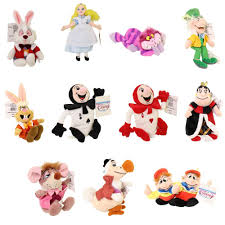 amazon com rare alice in wonderland set of 11 plush bean bag