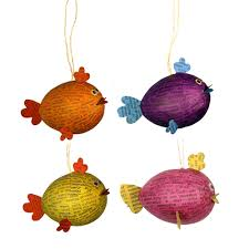 goldfish ornaments from the philippines fair trade handmade