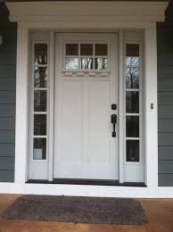 Fiberglass Exterior Doors With Sidelights Crisp And Clean Just In Time For Clopay Craftsman