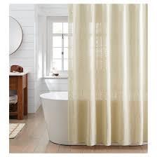 Target Linen Curtains Woven Stripe Shower Curtain Linen Threshold Target