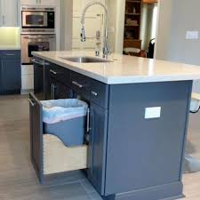 kitchen island trash bin 29 sneaky ways to hide a trash can in your kitchen digsdigs
