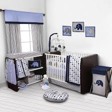 light blue and pink crib bedding boy elephant girl chevron baby