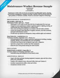 Maintenance Worker Resume Top Paper Writers Websites For University Solid Waste Inspector