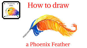 how to draw a phoenix feather how to draw a feather youtube