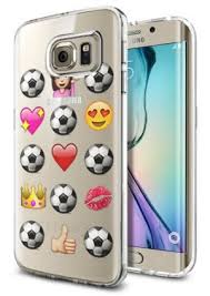 Galaxy Phone Meme - com galaxy s6 edge clear case soccer emoji meme cool funny