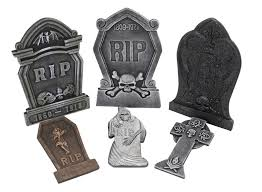 Halloween Decorations For Sale Tombstone Set With Glitter Six Assorted Decorative Headstones For