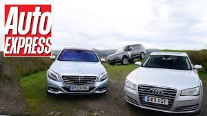jaguar xf czy lexus gs new mercedes s class vs audi a8 vs range rover auto express