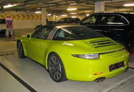 lime green aston martin porsche 911 targa 4s spotted in lime green too