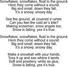 snowy day song lyrics and sound clip