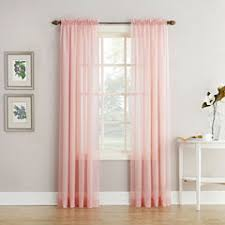 pink sheer curtains for window jcpenney