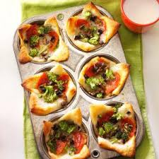 muffin tin pizzas recipe taste of home