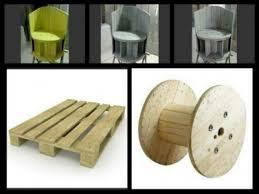 siege en palette fauteuil construit en utilisant une bobine de câble en bois et