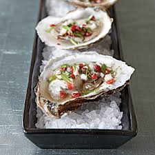 mignonette cuisine oysters with pink peppercorn mignonette recipe oysters dishes