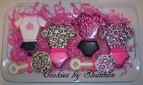 cheetah baby shower hot pink cheetah baby shower cookie connection