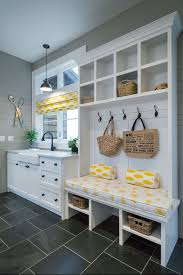 country interior design with minimalist laundry mudroom ideas