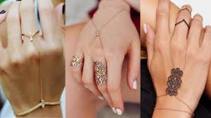 bracelet ring design images Top beautiful ring attached bracelet designs jpg
