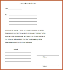 eviction notice template sop example