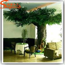 artificial trees for interior design realistic large decorated