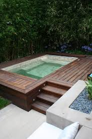 backyard deck tub ideas pool contemporary with outdoor seating