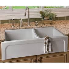 Three Hole Kitchen Faucets Sinks White Porcelain Apron Farmhouse Kitchen Sink Three Holes