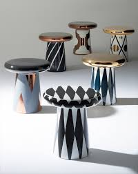 hayon designs ceramic table and sculptures for bosa