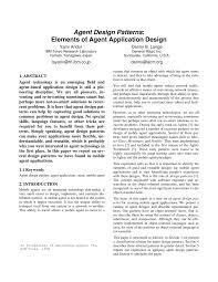 design applying the elements agent design patterns elements of agent application design pdf