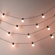 bistro bulb fairy lights 20 bulbs the white company light