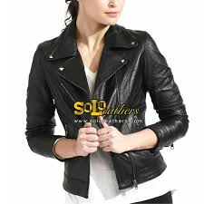 Cowhide Leather Vest Ladies Bike Jacket Fashion Leather Jacket