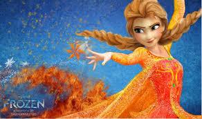 anna frozen fire version princess anna
