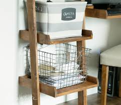 Wooden Ladder Bookshelf Plans by Ana White Leaning Ladder Wall Bookshelf Diy Projects