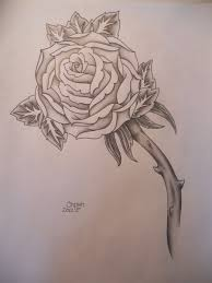 black and white rose tattoo design by prissychrissy on deviantart