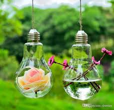 Where To Buy Glass Vases Cheap Light Bulb Glass Planter Vase Air Plants Bulb Terrarium Hanging
