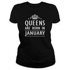 Halloween Themed Shirts Queens Are Born In January T Shirt Queens Are Born Pinterest