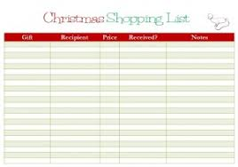 gift shopping list free printable christmas shopping list my frugal adventures