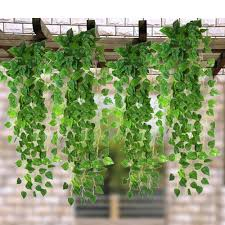 12pcs artificial ivy vine fake foliage dried flower leaf plant